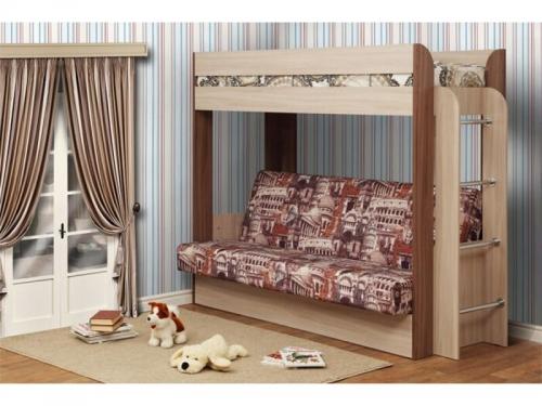 Диван-кровать двухъярусная Немо Ясень Шимо
