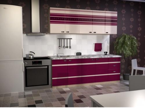 Кухня Бордо МДФ глянец