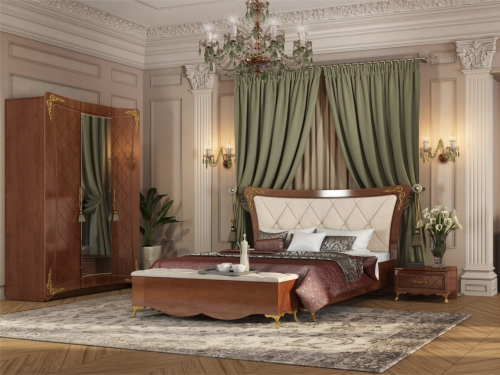 Спальня Аделина Орех-Золото