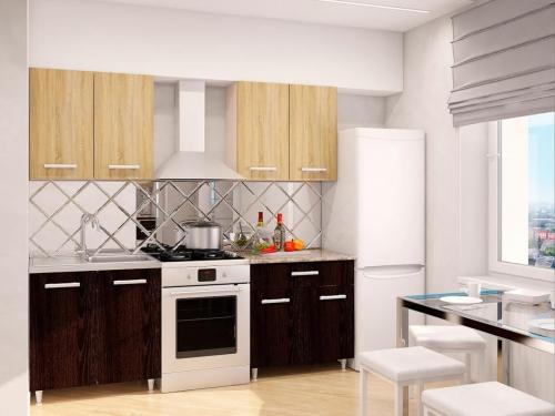 Модульная кухня Эконом Дуб Сонома-Дуб Кентерберри темный