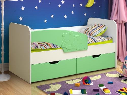 Кровать детская Винни-Пух МДФ матовый