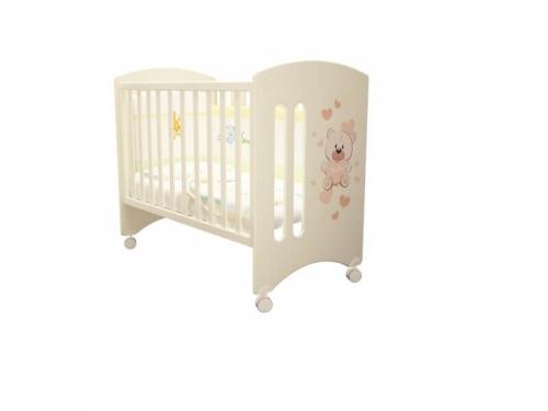 Кроватка детская Софи Мишка Тедди Слоновая кость