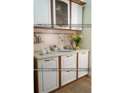 Кухня Фантазия ясень белый-орех