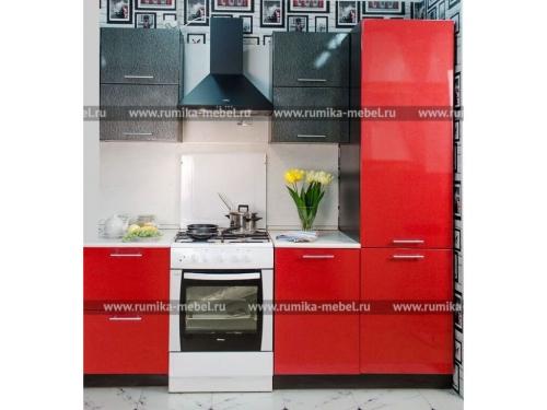 Кухня Фантазия красный металлик-огни Нью-Йорка